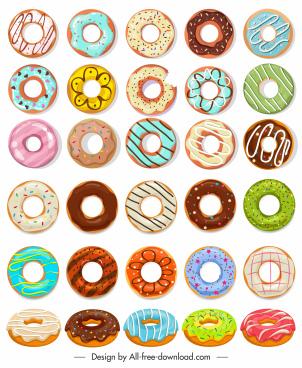 pie design elements colorful cream sketch classic round