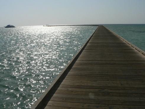 pier beach sea
