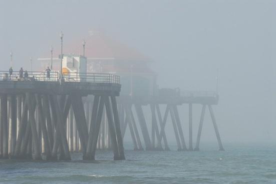 pier misty morning