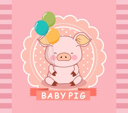 pig background cute icon pink decor