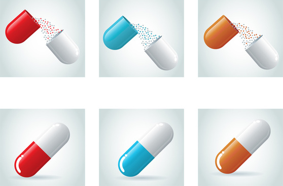 pill capsule medical collection
