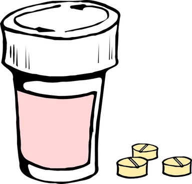 Pills And Bottle clip art
