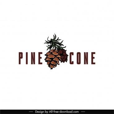 pine cone logo template classic texts decor