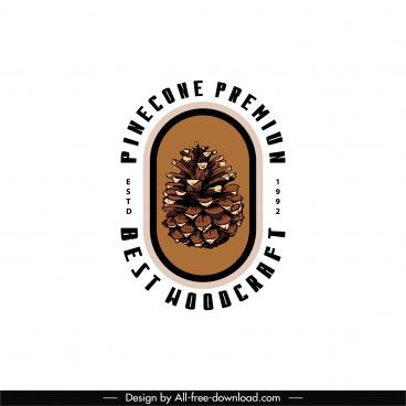 pine cone logotype flat classic design