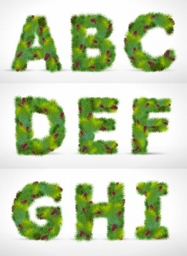 pine form letters 01 vector