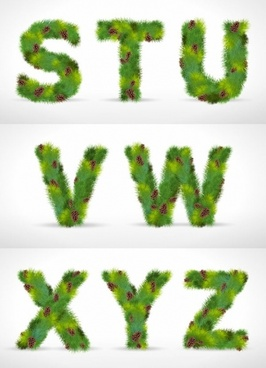 pine form letters 03 vector