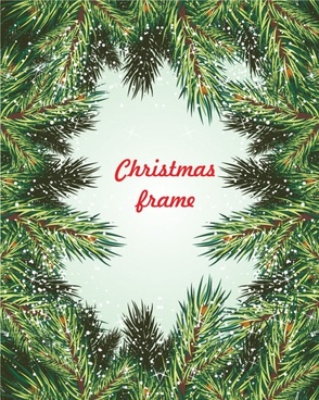 pine frame 01 vector