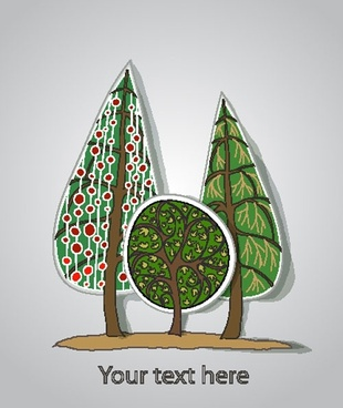 pine label background 01 vector