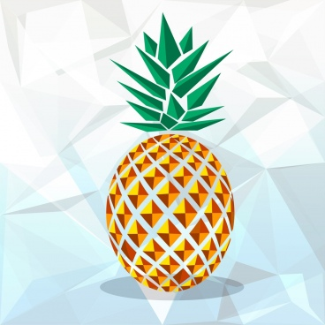 pineapple icon colorful geometric decor