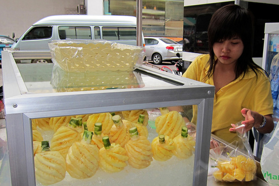 pineapple lady phuket town thailand