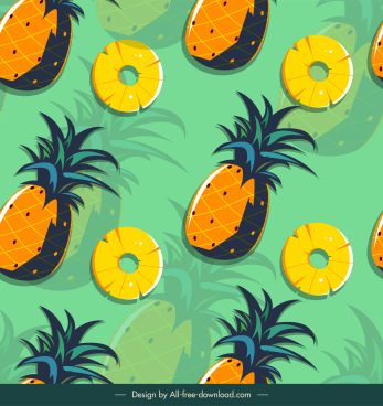 pineapple pattern template flat classical handdrawn sketch