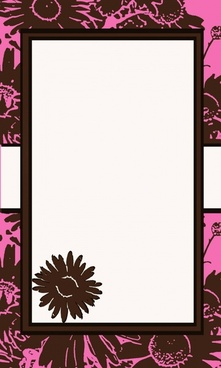pink amp brown flower invitation