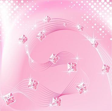 decorative background pink sparkling gems decor 3d motion