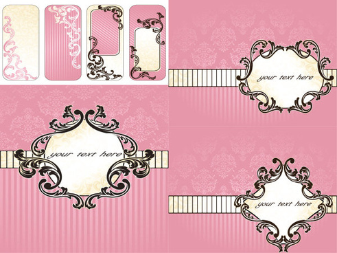 pink background decorative pattern vector