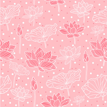 pink background design with lotus flowers