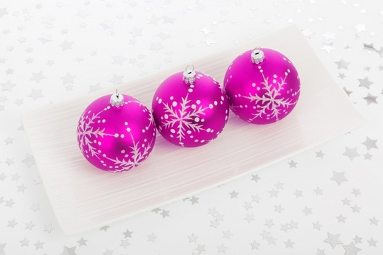 pink bauble decorations