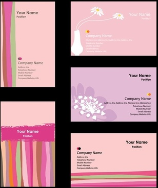 pink card background vector