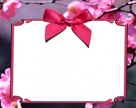 pink cherry blossom invitation