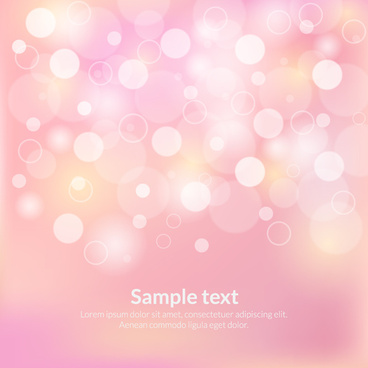 pink circle bokeh abstract background