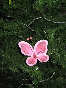 pink fabric butterfly
