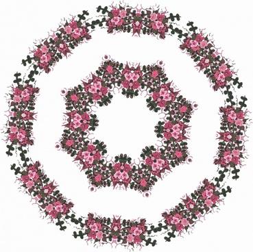 pink floral motif
