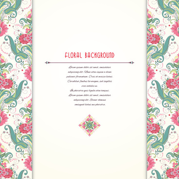 pink floral with beautiful background vector