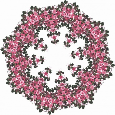pink floral wreath 2