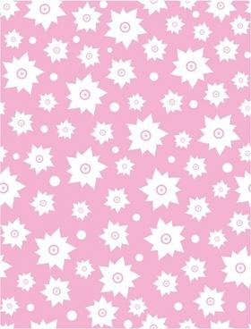 Pink flower patten