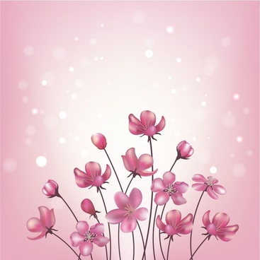 Pink flowers background.