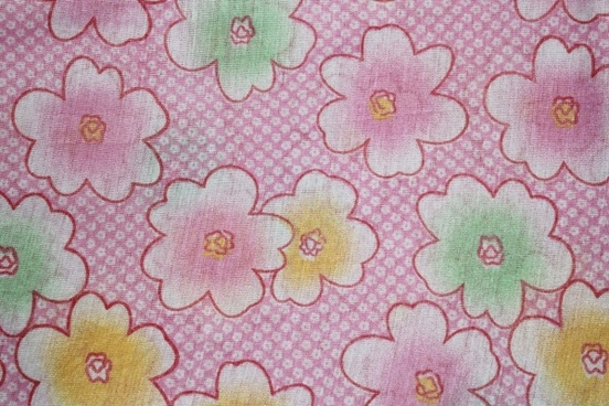 pink flowers textile background