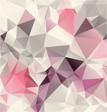pink geometric shapes background vector graphics