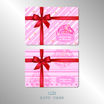 pink gift card vector