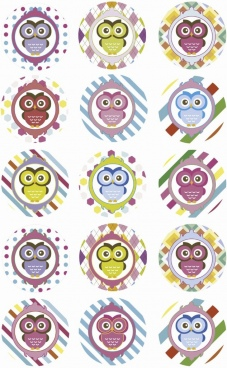 pink or purple girl owl baby shower cupcake toppers or favor