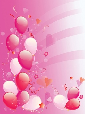 Pink Party balloons background
