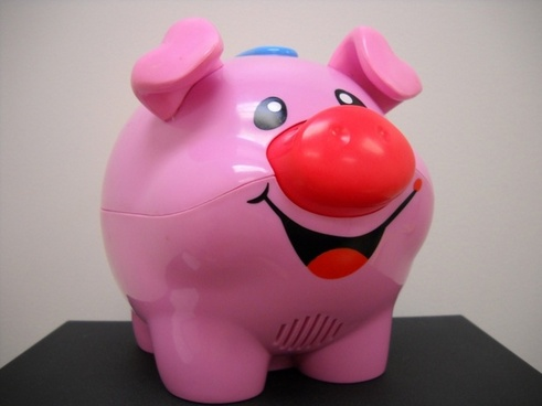 pink pig toy
