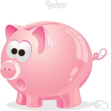 pink piggy bank icon