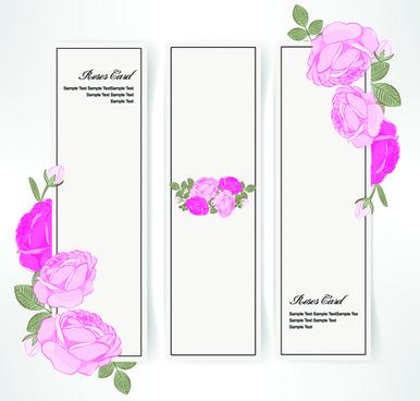 pink rose banner vector