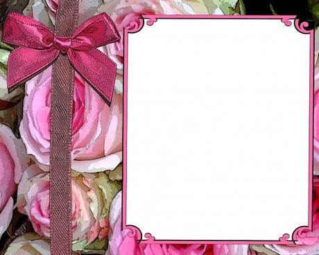 pink rose invitation