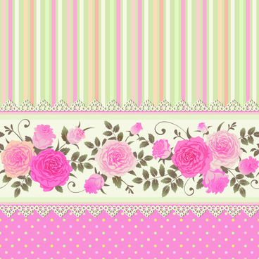 pink rose pattern background vector