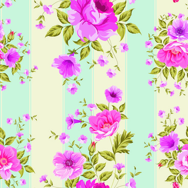 pink roses pattern seamless vector