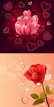 pink roses red roses vector