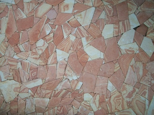 pink stone slabs