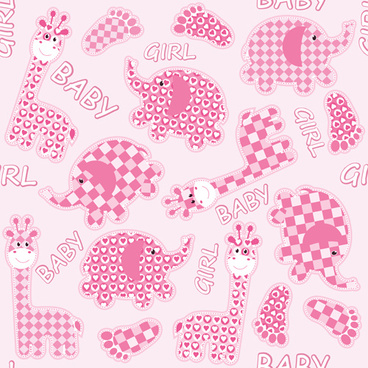 pink style kid card designs vector