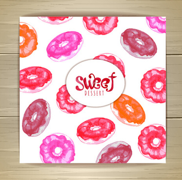 pink sweet seamless pattern vector