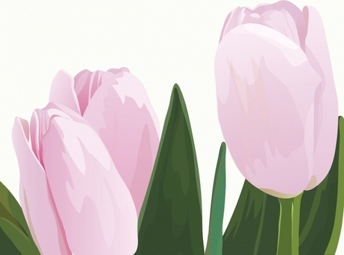 tulips painting bright colored classic closeup design