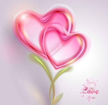 Pink Valentine card Vector Background
