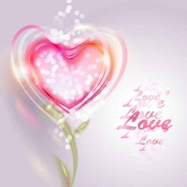Pink Valentine Love Vector Background