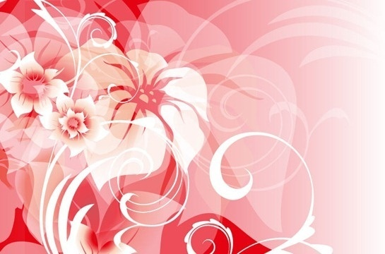 pink vector abstract floral background