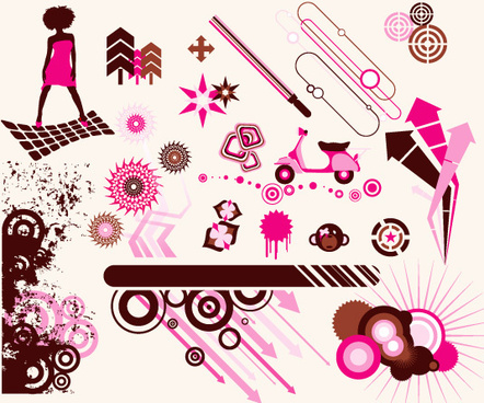pink vector graphics