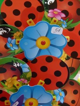 pinwheel flower ladybug